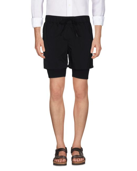 Theory 38 | Black Bermuda for Men | Lyst