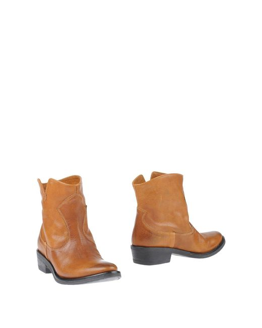 ALTIEBASSI - Brown Ankle Boots - Lyst