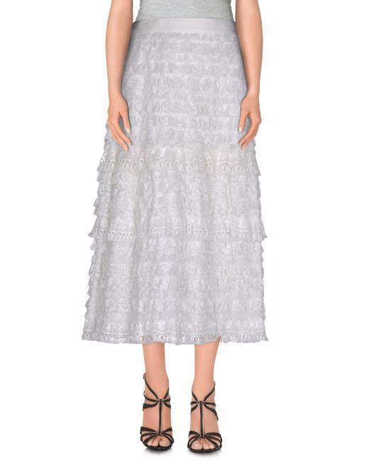Dolce & Gabbana | Black 3/4 Length Skirt | Lyst