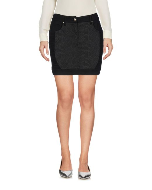 Versace Jeans - Black Mini Skirt - Lyst