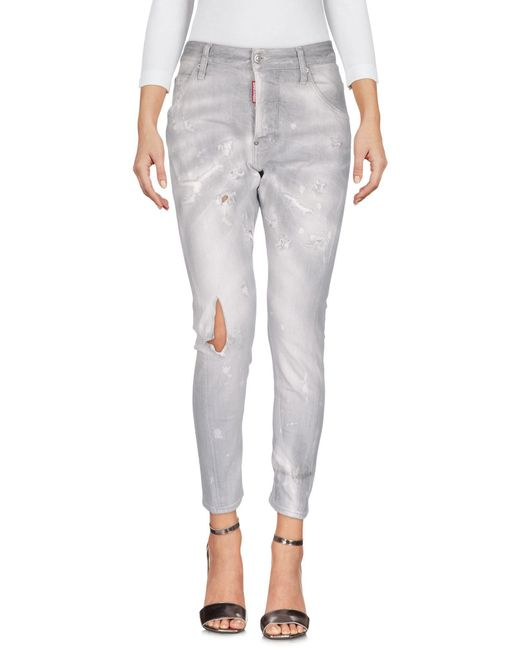 DSquared² - Gray Denim Trousers - Lyst