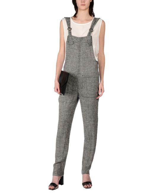INTROPIA - Gray Jumpsuit - Lyst