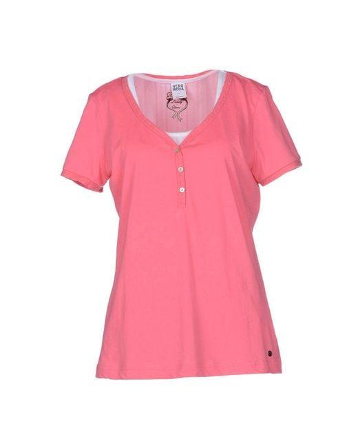 Vero Moda - Pink T-shirt - Lyst