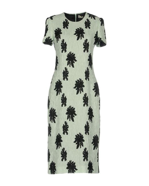 Balenciaga - Green Knee-length Dress - Lyst