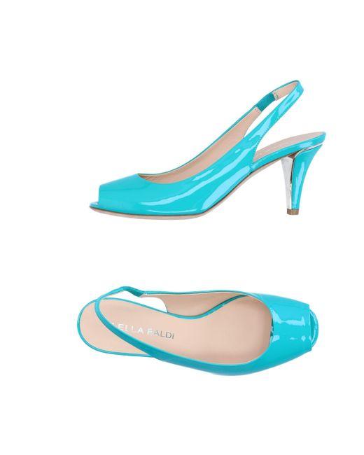 Lella Baldi - Green Sandals - Lyst