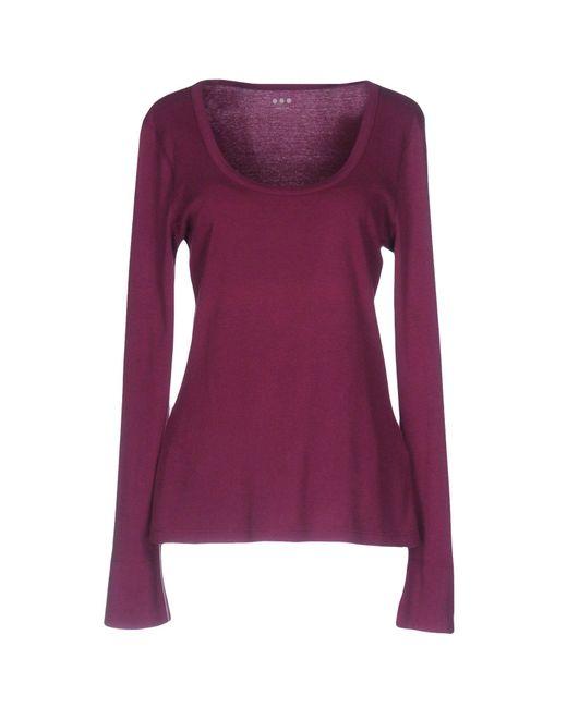Lyst three dots t shirt in purple for Three dots t shirts