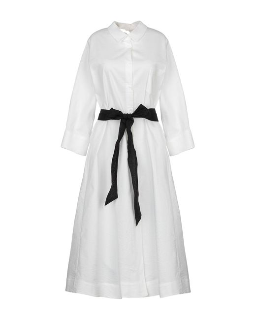 Crea Concept - White Knee-length Dress - Lyst