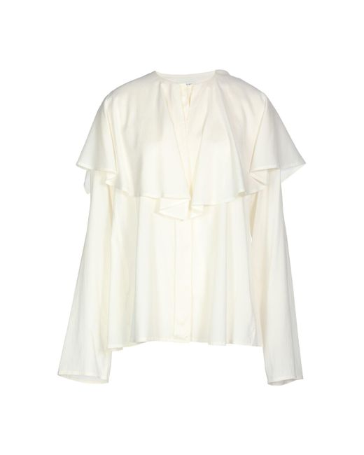 Lemaire - White Blouse - Lyst