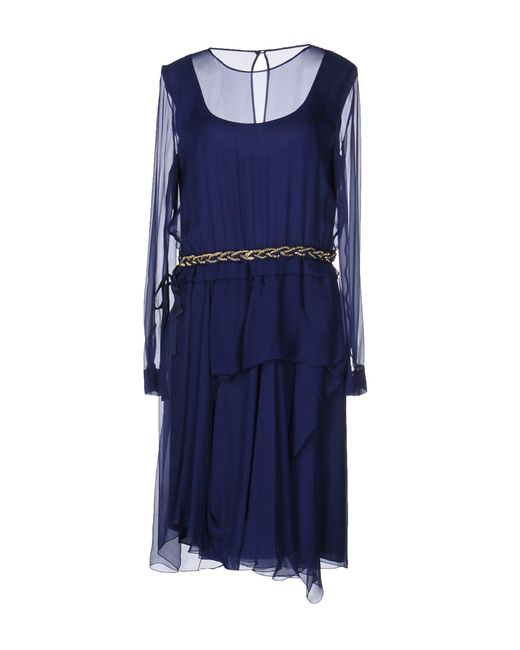 Alberta Ferretti - Blue Knee-length Dresses - Lyst