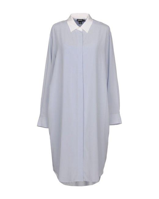 DKNY - Blue Knee-length Dress - Lyst