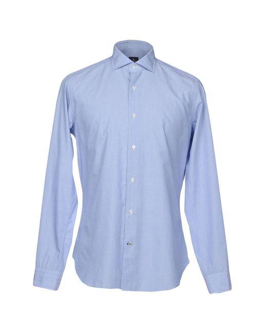 Truzzi - Blue Shirt for Men - Lyst