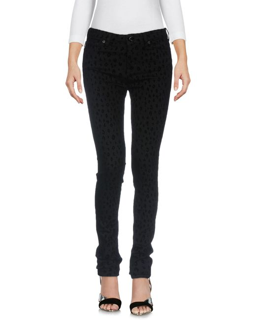 Love Moschino - Black Denim Trousers - Lyst