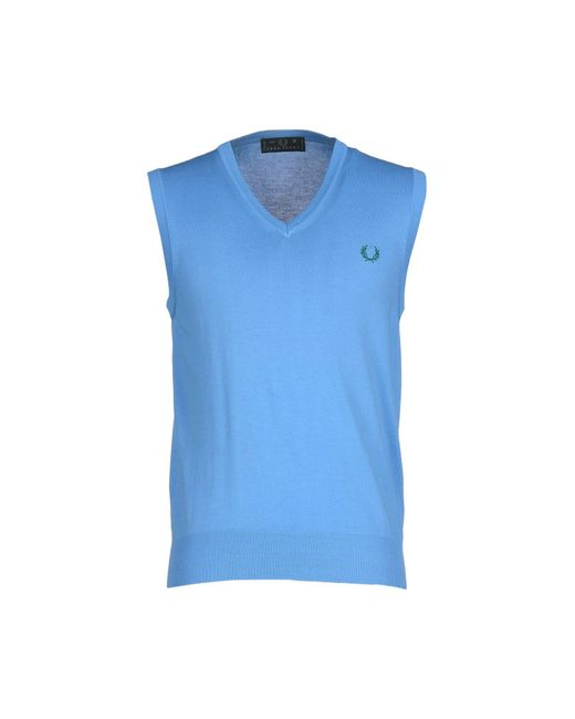 Fred Perry - Blue Sweaters for Men - Lyst