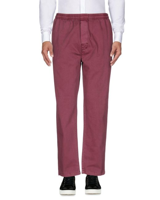 Stussy - Red Casual Pants for Men - Lyst