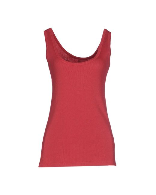 Almeria - Red Tank Tops - Lyst