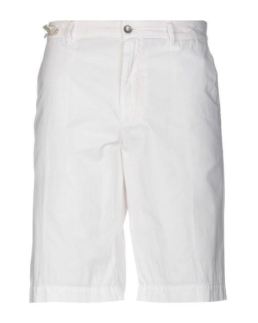 40weft - White Bermuda Shorts for Men - Lyst