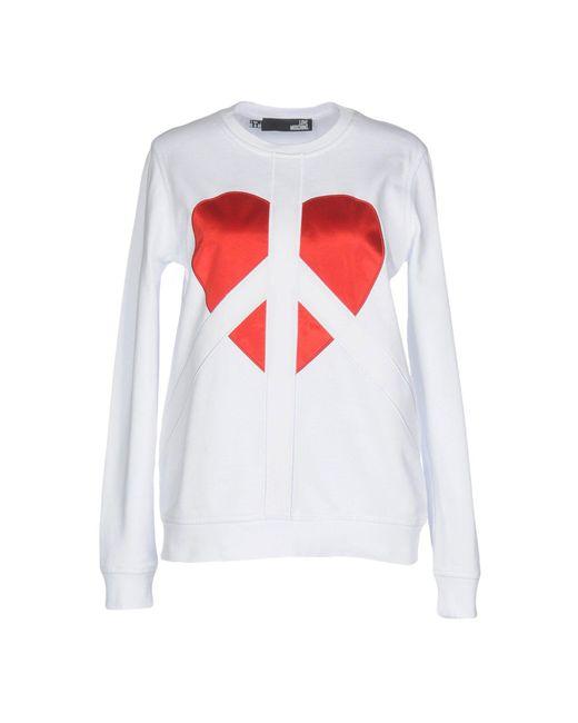 Love Moschino - White Sweatshirt - Lyst