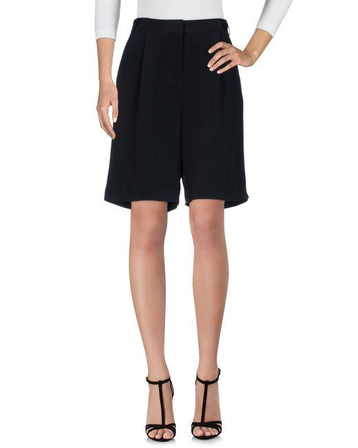 Tibi | Black Bermuda Shorts | Lyst