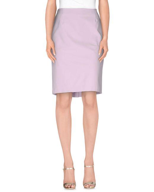 Chiara D'este - Pink Knee Length Skirt - Lyst