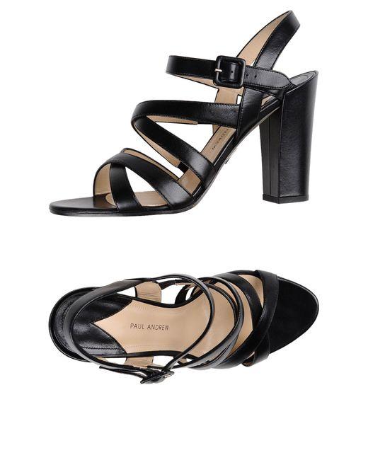 Paul Andrew Black Sandals