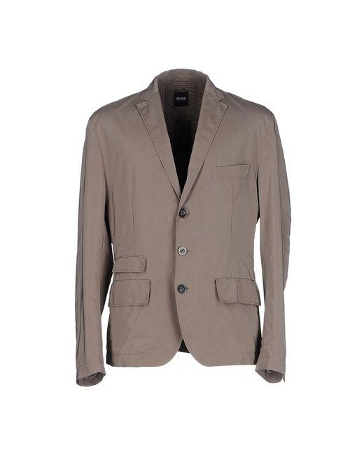 BOSS Black - Gray Blazers for Men - Lyst