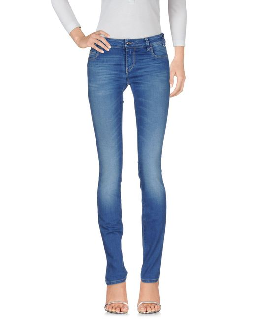 Met - Blue Denim Trousers - Lyst
