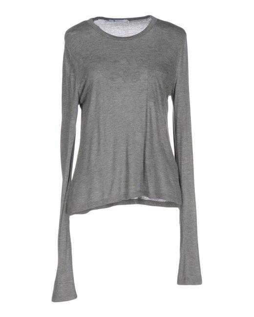 T By Alexander Wang - Gray T-shirt - Lyst