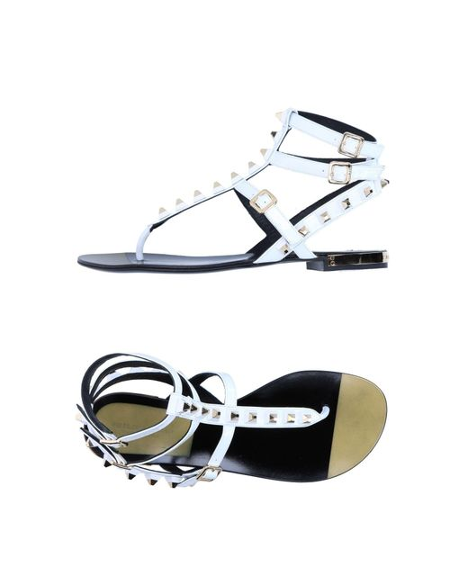Philipp Plein - White Toe Strap Sandal - Lyst