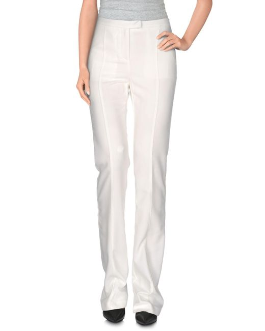 Who*s Who - White Casual Pants - Lyst