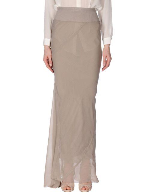 Rick Owens - Gray Long Skirt - Lyst