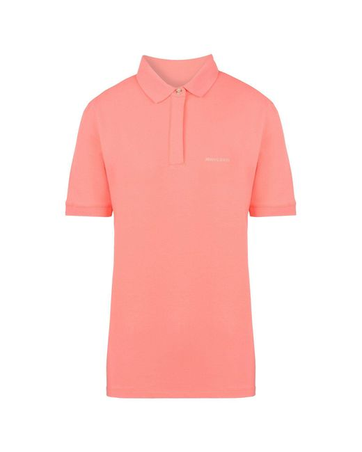 Armani Jeans - Pink Short-sleeved Polo - Lyst