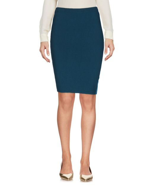 Who*s Who Blue Who*s Who Knee Length Skirt