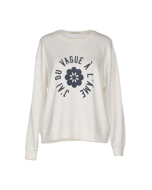 AG Jeans - White Sweatshirt - Lyst