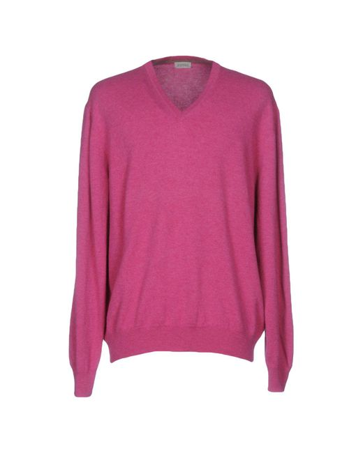 Andrea Fenzi - Pink Sweaters for Men - Lyst