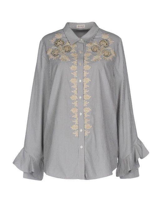 Suno - Gray Shirt - Lyst