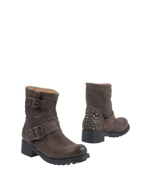 Manufacture D'essai - Brown Ankle Boots - Lyst