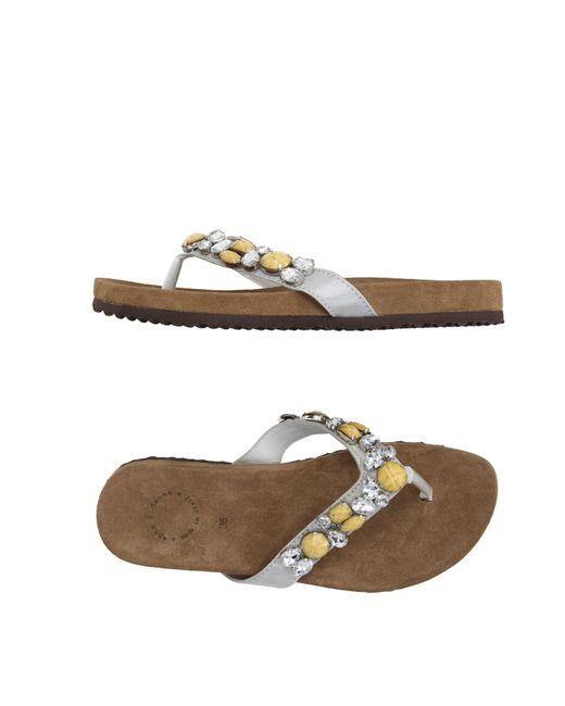 Anna Fidanza - Gray Toe Post Sandal - Lyst
