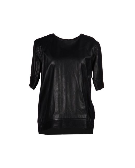 Theyskens' Theory | Black Blouse | Lyst