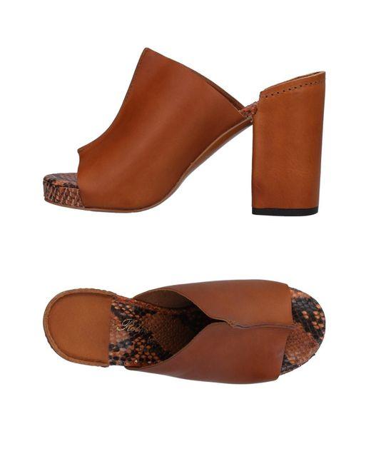 Robert Clergerie - Brown Sandals - Lyst