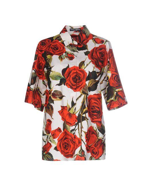 Dolce & Gabbana - Red Shirt - Lyst