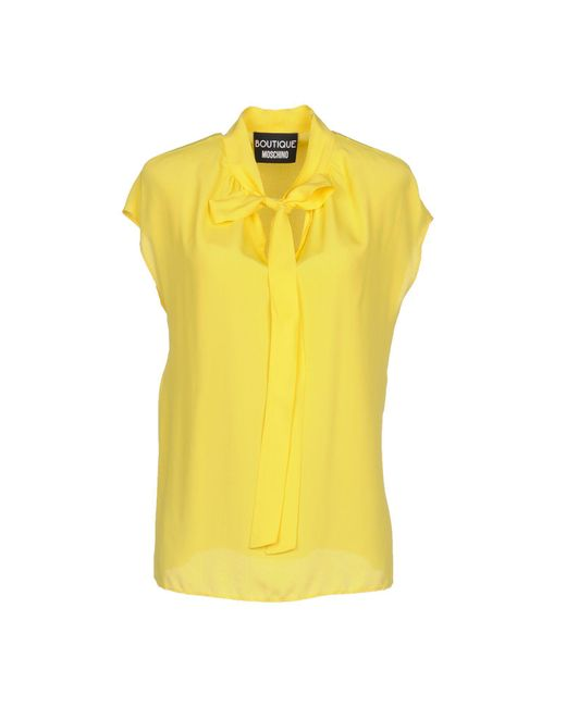 Boutique Moschino - Yellow Blouses - Lyst