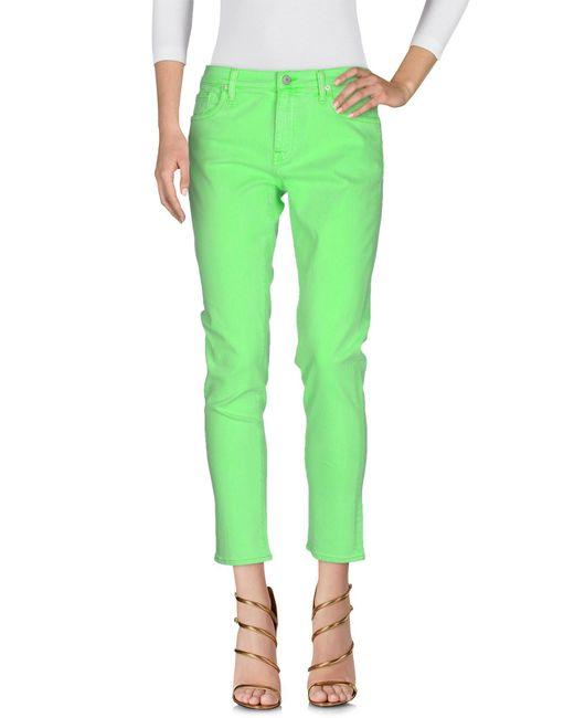 Ralph Lauren - Green Denim Trousers - Lyst