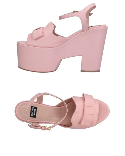 Boutique Moschino - Pink Sandals - Lyst
