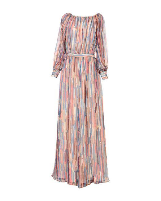 Dhela - Blue Long Dress - Lyst