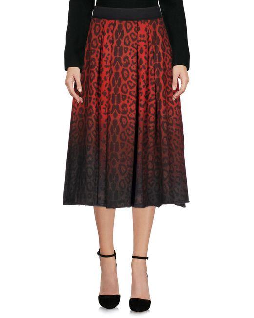 Jijil | Red 3/4 Length Skirt | Lyst