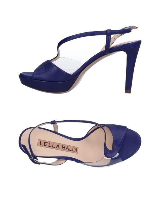 Lella Baldi | Purple Sandals | Lyst