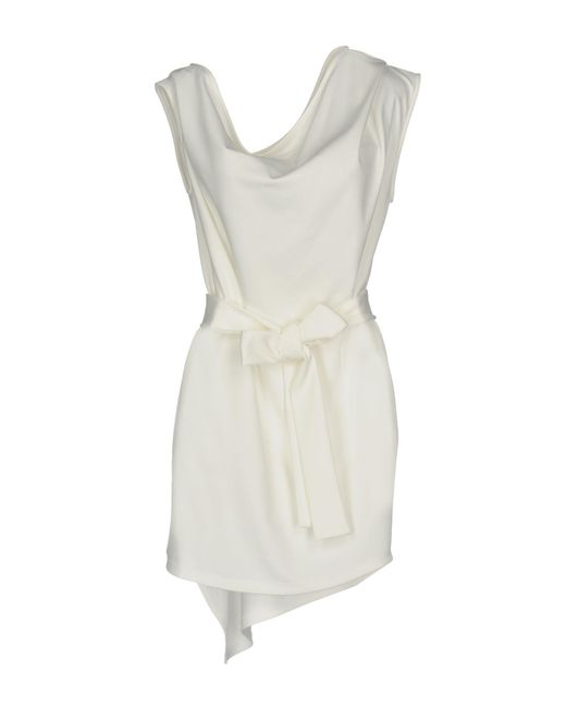 Frankie Morello - White Short Dress - Lyst
