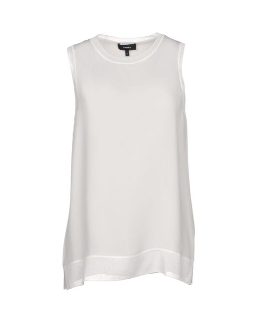 Theory - White Top - Lyst
