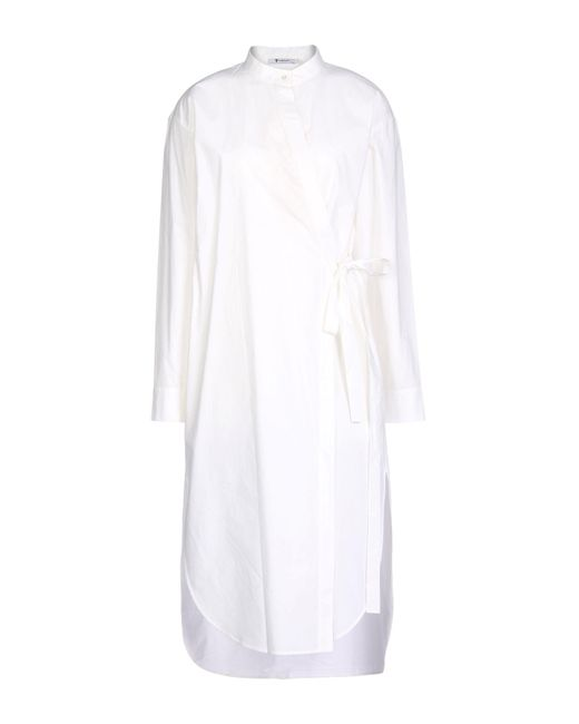 T By Alexander Wang White 3/4 Length Dress