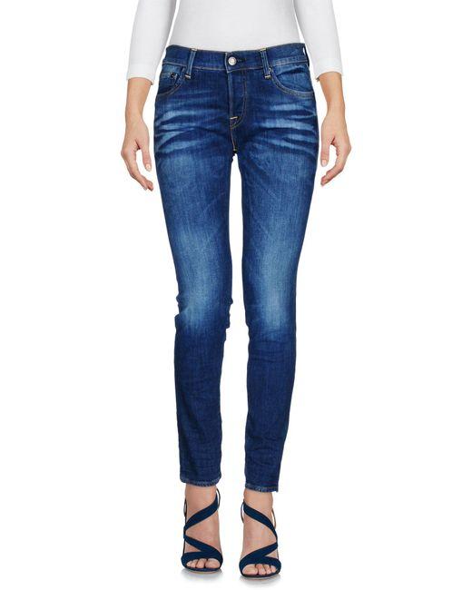 HTC - Blue Denim Trousers - Lyst